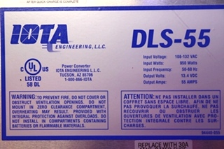 USED RV DLS-55 IOTA ENGINEERING POWER CONVERTER FOR SALE