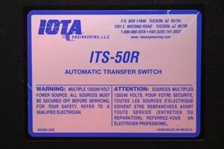 USED ITS-50R IOTA ENGINEERING AUTOMATIC TRANSFER SWITCH RV PARTS FOR SALE