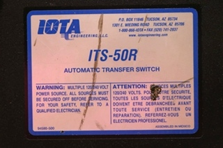 USED RV IOTA ENGINEERING ITS-50 AUTOMATIC TRANSFER SWITCH FOR SALE