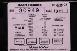 USED MOTORHOME HEART INTERFACE 84-2056-03 HEART REMOTE FOR SALE