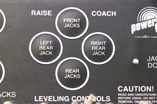 USED 500456 POWER GEAR LEVELING CONTROL LEVELING TOUCH PAD MOTORHOME PARTS FOR SALE