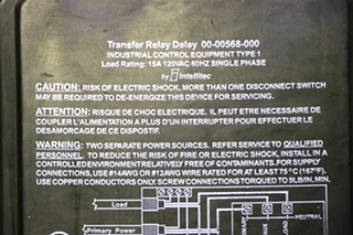 USED RV 00-00568-000 TRANSFER RELAY DELAY BY INTELLITEC FOR SALE