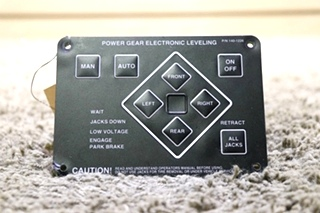 USED RV 140-1226 POWER GEAR ELECTRONIC LEVELING TOUCH PAD FOR SALE
