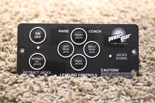 USED RV POWER GEAR 500456 LEVELING CONTROLS TOUCH PAD FOR SALE