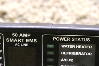 USED RV 00-00684-100 50 AMP SMART EMS DISPLAY PANEL BY INTELLITEC FOR SALE