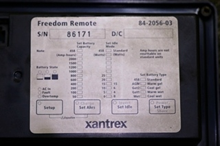 USED RV 84-2056-03 XANTREX FREEDOM REMOTE MOTORHOME PARTS FOR SALE