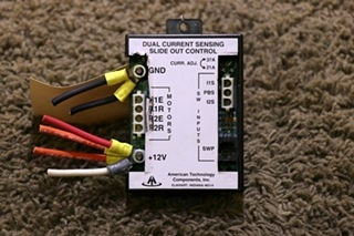 USED RV AMERICAN TECHNOLOGY AT-CSR-013 DUAL CURRENT SENSING SLIDE OUT CONTROL MOTORHOME PARTS FOR SALE