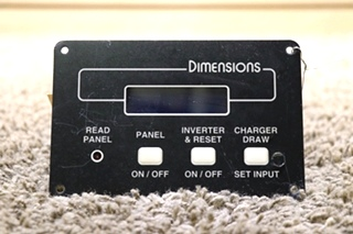 USED RV 141255-2 DIMENSIONS INVERTER REMOTE MOTORHOME PARTS FOR SALE