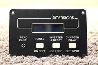 USED MOTORHOME DIMENSIONS REMOTE PANEL 141255-2 RV PARTS FOR SALE