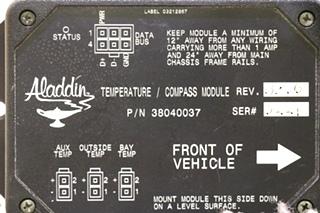 USED RV ALADDIN 38040037 TEMPERATURE / COMPASS MODULE MOTORHOME PARTS FOR SALE