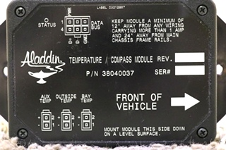 USED MOTORHOME ALADDIN TEMPERATURE / COMPASS MODULE 38040037 RV PARTS FOR SALE