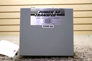 USED ES50M-65N RV POWER 50 TRANSFER AUTOMATIC GENERATOR - SHORELINE TRANSFER SWITCH MOTORHOME PARTS FOR SALE
