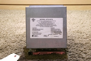 USED ATS 5070 PARALLAX POWER SUPPLY MOTORHOME AUTOMATIC LINE/GENERATOR SWITCH RV PARTS FOR SALE