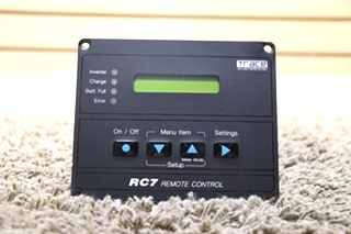 USED RV TRACE ENGINEERING RC7 REMOTE CONTROL MOTORHOME PARTS FOR SALE