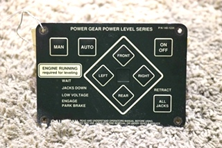 USED POWER GEAR POWER LEVEL SERIES 140-1226 RV LEVELING TOUCH PAD MOTORHOME PARTS FOR SALE