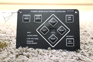 USED RV 140-1226 POWER GEAR ELECTRONIC LEVELING TOUCH PAD MOTORHOME PARTS FOR SALE