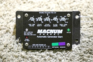 USED MAGNUM ENERGY RV AUTOMATIC GENERATOR START MOTORHOME PARTS FOR SALE