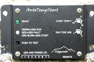USED RIDGECREEK MOTORHOME AUTO TEMP START RV PARTS FOR SALE