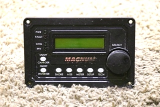 USED MAGNUM ENERGY MOTORHOME INVERTER/CHARGER REMOTE PANEL RV PARTS FOR SALE