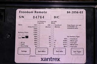USED MOTORHOME 84-2056-03 XANTREX FREEDOM REMOTE PANEL RV PARTS FOR SALE