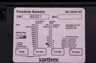 USED RV XANTREX FREEDOM REMOTE 84-2056-03 MOTORHOME PARTS FOR SALE