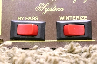 USED MOTORHOME AUTOMATIC WINTERIZING SYSTEM SWITCH PANEL RV PARTS FOR SALE