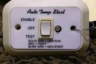 USED MOTORHOME AUTO TEMP START A9159WH SWITCH PANEL RV PARTS FOR SALE