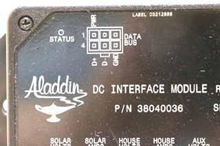 USED MOTORHOME 38040036 ALADDIN DC INTERFACE MODULE RV PARTS FOR SALE