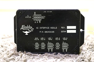 USED MOTORHOME ALADDIN AC INTERFACE MODULE 38040035 RV PARTS FOR SALE