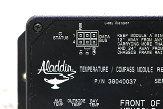 USED 38040037 RV ALADDIN TEMPERATURE / COMPASS MODULE MOTORHOME PARTS FOR SALE