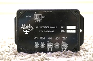 38040035 USED MOTORHOME ALADDIN AC INTERFACE MODULE RV PARTS FOR SALE