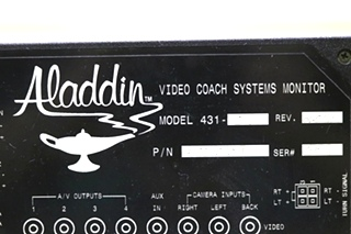 USED RV 38040109 ALADDIN VIDEO COACH SYSTEMS MONITOR MOTORHOME PARTS FOR SALE