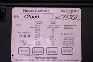 USED 84-2056-03 RV XANTREX / HEART INTERFACE HEART REMOTE MOTORHOME PARTS FOR SALE
