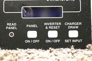 USED RV DIMENSIONS INVERTER REMOTE 141255-2 MOTORHOME PARTS FOR SALE
