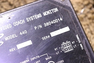 USED MOTORHOME 38040014 ALADDIN VIDEO COACH SYSTEMS MONITOR RV PARTS FOR SALE