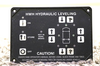 USED RV HWH HYDRAULIC LEVELING TOUCH PAD MOTORHOME PARTS FOR SALE