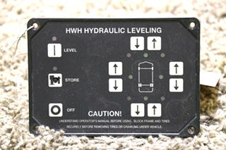 USED MOTORHOME HWH HYDRAULIC LEVELING CONTROL TOUCH PAD RV PARTS FOR SALE