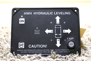 USED AP9755 RV HWH HYDRAULIC LEVELING TOUCH PAD MOTORHOME PARTS FOR SALE