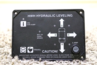 USED HWH HYDRAULIC LEVELING CONTROL TOUCH PAD MOTORHOME PARTS FOR SALE