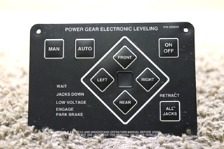USED MOTORHOME POWER GEAR ELECTRONIC LEVELING 500629 TOUCH PAD RV PARTS FOR SALE
