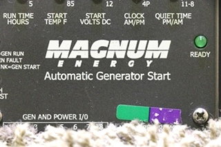 USED MOTORHOME MAGNUM ENERGY AUTOMATIC GENERATOR START RV PARTS FOR SALE