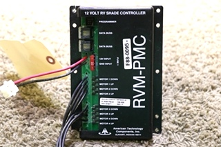 USED F88-0095 AMERICAN TECHNOLOGY COMPONENTS RVM-PMC 12 VOLT RV SHADE CONTROLLER AT-RVM-PMC02 MOTORHOME PARTS FOR SALE