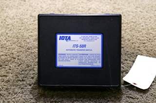 USED IOTA ENGINEERING MOTORHOME AUTOMATIC TRANSFER SWITCH ITS-50R RV PARTS FOR SALE