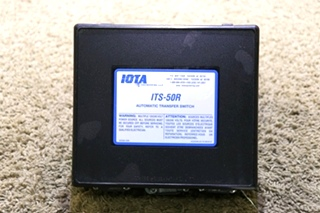 USED RV ITS-50R IOTA ENGINEERING AUTOMATIC TRANSFER SWITCH MOTORHOME PARTS FOR SALE