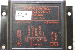 USED RV 00-00971-100 MOTOR CONTROL W/ VOICE OUTPUT BY INTELLITEC MOTORHOME PARTS FOR SALE
