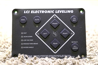 USED LCI ELECTRONIC LEVELING TOUCH PAD 10537B RV PARTS FOR SALE