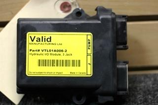 USED RV VALID MANUFACTURING HYDRAULIC I/O MODULE, 3 JACK PN: VTL01A006-2