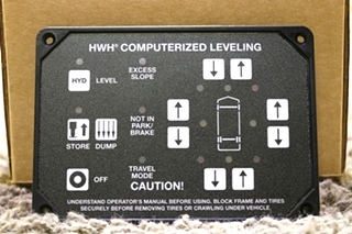 MOTORHOME HWH AP1088 COMPUTERIZED LEVELING TOUCH PAD RV PARTS FOR SALE