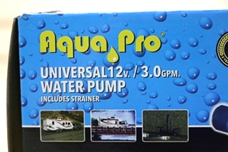 AQUA PRO MODEL: AP3000 UNIVERSAL 12V 3.0 GPM WATER PUMP RV PARTS FOR SALE
