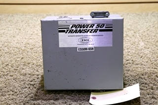 USED RV ES50M-65N POWER 50 TRANSFER AUTOMATIC GENERATOR - SHORELINE TRANSFER SWITCH MOTORHOME PARTS FOR SALE